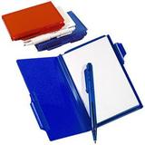 Блокнот для записей с авторучкой A6, синий фото