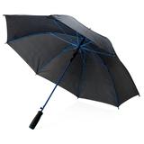 Зонт трость механический цветные спицы, черный/синий фото