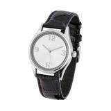 Часы наручные, серебряный/темно-коричневый фото