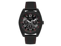 Часы наручные Guess, мужские, d46, черный/красный фото