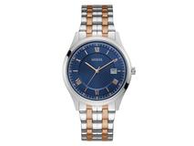 Часы наручные Guess, мужские, золотисто-серебристые/синие фото