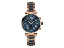 Часы наручные, женские, синий, золотой фото