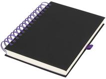 Блокнот А5 Wiro, черный с фиолетовым фото