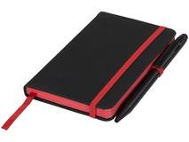 Блокнот А6 Noir Edge, черный с красным фото