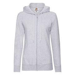 Толстовка LADIES LIGHTWEIGHT HOODED SWEAT, серый фото