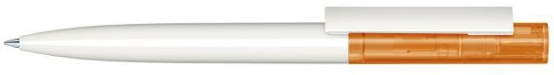 Шариковая ручка Headliner Clear Basic, белая/оранжевая фото