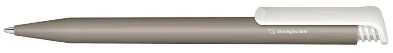 Шариковая ручка Super-Hit Bio matt, серый/белый фото