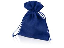 Мешочек подарочный средний, синий фото