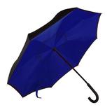 Зонт трость наоборот механический ORIGINAL, синий фото
