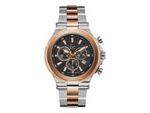 Часы наручные, мужские, черный, серебряный/серый, золотой фото