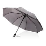 """Автоматический складной зонт Deluxe 21"""", серый фото"""