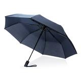 """Автоматический складной зонт Deluxe 21"""", синий фото"""