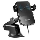 Автомобильный держатель с зарядкой OLMIO QI, 10W, черный фото