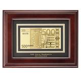 Банкнота 500 Euro в рамке, коричневый фото