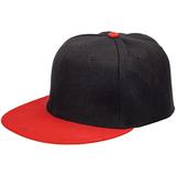 Бейсболка Ben Hope с прямым козырьком, черная с красным фото