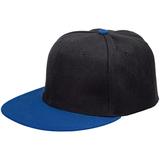 Бейсболка Ben Hope с прямым козырьком, черная с синим фото