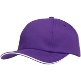 Бейсболка Bizbolka Canopy, фиолетовая с белым кантом фото