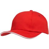 Бейсболка Bizbolka Canopy, красная с белым кантом фото