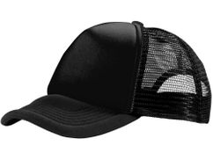 Бейсболка Trucker 5 клиньев, черный фото