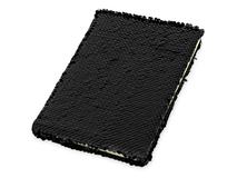 Блокнот с пайетками Fashion, 160 линованных страниц, черный фото