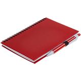 Блокнот Spiral Viral с ручкой, 80 стр., красный фото