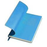 Бизнес-блокнот Funky, 130*210 мм, темно-синий, голубой форзац, мягкая обложка, в линейку фото