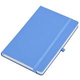 Бизнес-блокнот Justy, 130*210 мм, светло-голубой, твердая обложка,  резинка 7 мм, блок-линейка фото