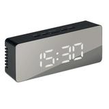 Часы-будильник, черный фото
