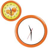 Часы настенные ПРОМО разборные, оранжевый, оранжевый фото
