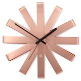 Часы настенные ribbon медь, оранжевый фото