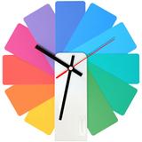 Часы настенные Transformer Clock, разноцветные фото