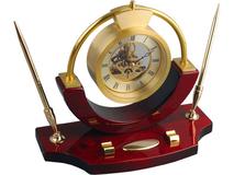 Часы настольные Люксембург, золотой, красный фото