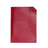 Чехол для паспорта PURE 140*90 мм., застежка на кнопке, натуральная кожа (фактурная), красный фото