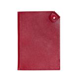 Чехол для паспорта PURE 140*90 мм., застежка на кнопке, натуральная кожа (гладкая), красный фото