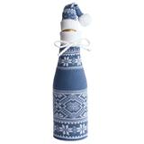 Чехол для шампанского Скандик с колпачком, синий (индиго) фото