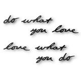 Декоративная надпись Do What You Love фото