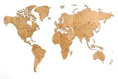 Деревянная карта мира World Map Wall Decoration Exclusive, дуб фото