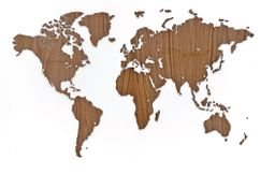 Деревянная карта мира World Map Wall Decoration Exclusive, орех фото