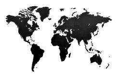 Деревянная карта мира World Map Wall Decoration Small, черная фото