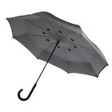 Двусторонний зонт, 23'', серый фото