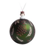 Елочный шар с фигуркой «Зимняя листва», 10 см фото