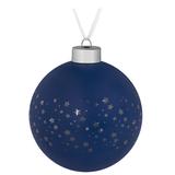 Елочный шар Stars, 10 см, синий фото