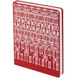 Ежедневник «Белая кость», недатированный, 336 стр., красный с белым узором фото