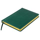 Ежедневник недатированный Joy, А5,  темно-зеленый, белый блок, золотой обрез фото