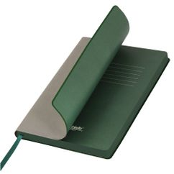 Ежедневник недатированный, Portobello Trend, Latte NEW, 145х210, 256 стр, серый/зеленый (темный форзац) фото