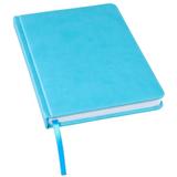 Ежедневник недатированный Bliss, А5,  бирюзовый, белый блок, без обреза фото