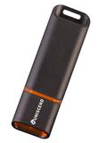Флешка Uniscend Slalom, черная с оранжевым, 8 Гб фото