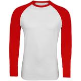 Футболка мужская с длинным рукавом Funky LSL, белая с красным фото