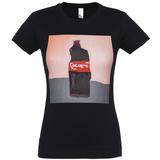 Футболка женская «Кола», черная с рисунком фото