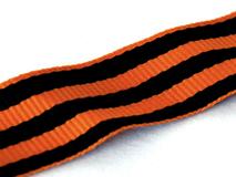 Георгиевская лента, черный, оранжевый фото